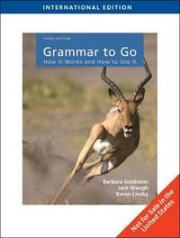 Grammar to Go by Barbara Goldstein image