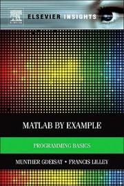 MATLAB (R) by Example by Munther Gdeisat