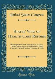 States' View of Health Care Reform by United States Congress image