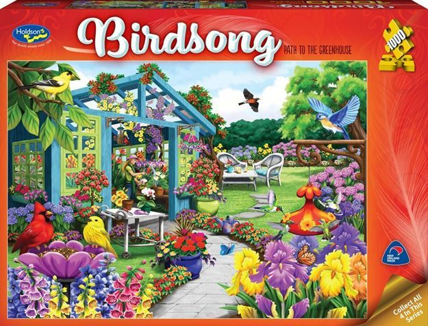 Holdson: 1000 Piece Puzzle - Birdsong (Path to the Greenhouse) image
