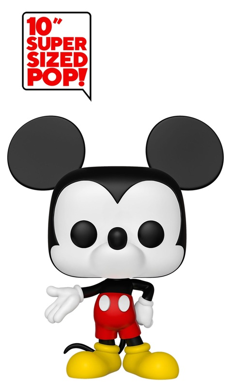 "Disney: Mickey Mouse (Colour) - 10"" Super Sized Pop! Vinyl Figure"