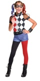 DC Super Hero Girls: Harley Quinn Girls' Deluxe Costume - (Size 3-5)
