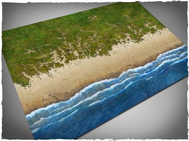 DeepCut Studio Beach PVC Mat (6x4)