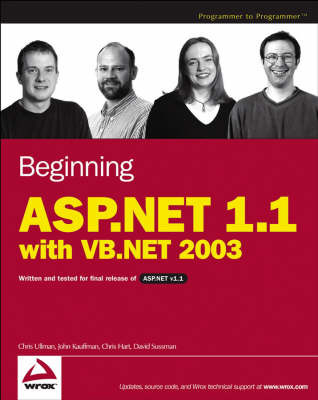 Beginning ASP.NET 1.1 with VB.NET 2003 by Chris Ullman image