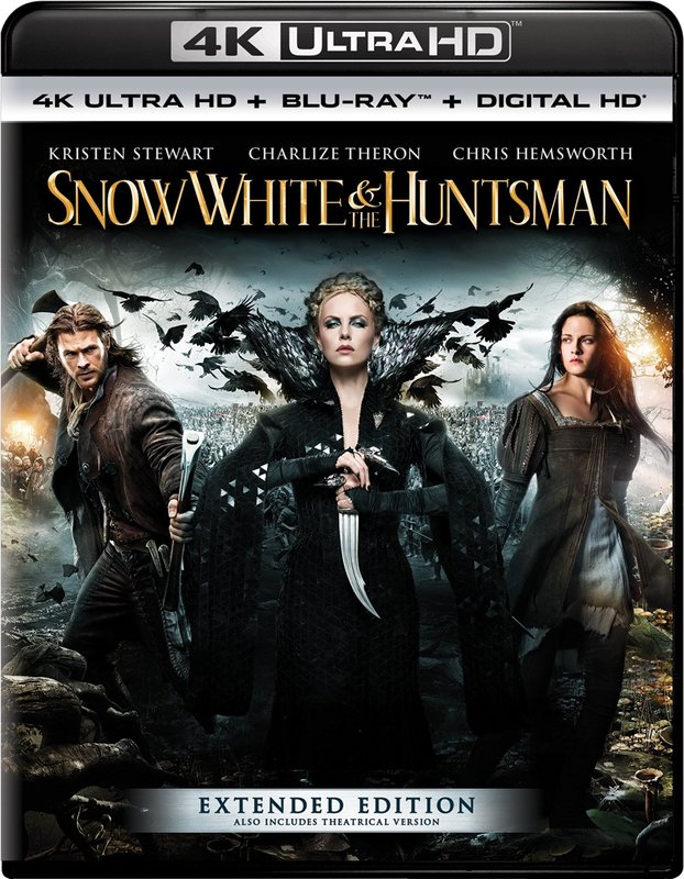 Snow White & the Huntsman - Extended Edition on Blu-ray, UHD Blu-ray