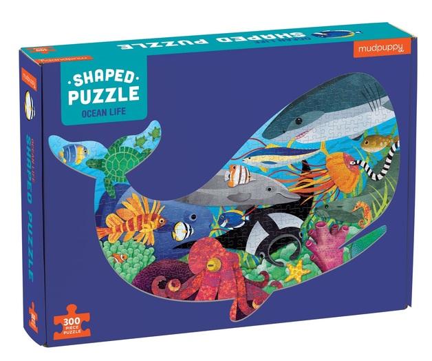 Mudpuppy: 300-Piece Shaped Scene Puzzle - Ocean Life