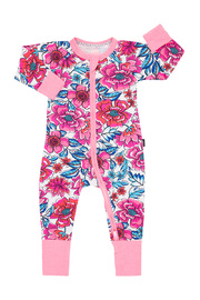 Bonds Zip Wondersuit Long Sleeve - Freestyle Blooms (6-12 Months)