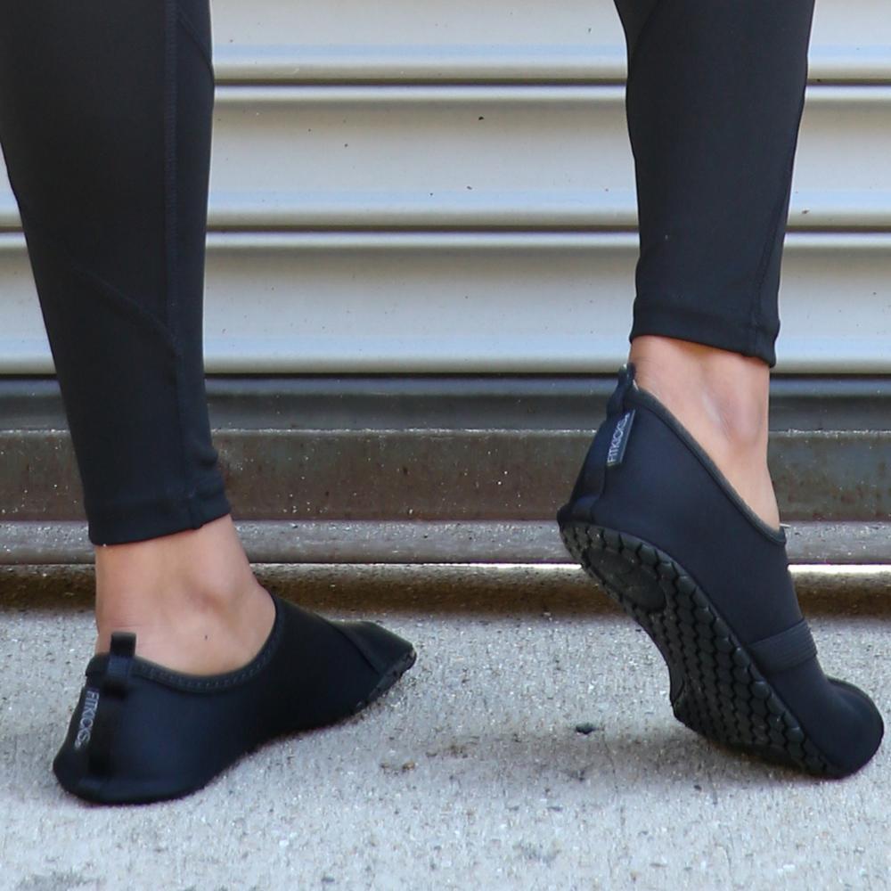 Fitkicks: Foldable Active Footwear - Black (Medium) image