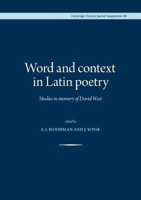 Word and Context in Latin Poetry image