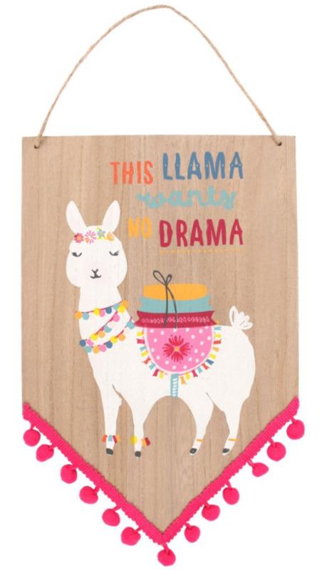 Nibble: Drama Llama - Wooden Sign