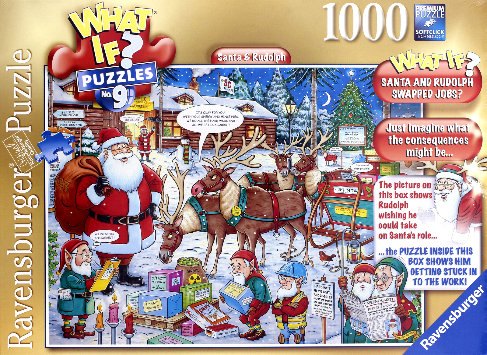 Ravensburger What If? Santa and Rudolph Christmas 1000pc ...