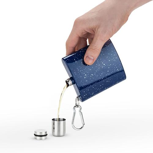 Foster & Rye: Enamel Carabiner Flask - Blue image