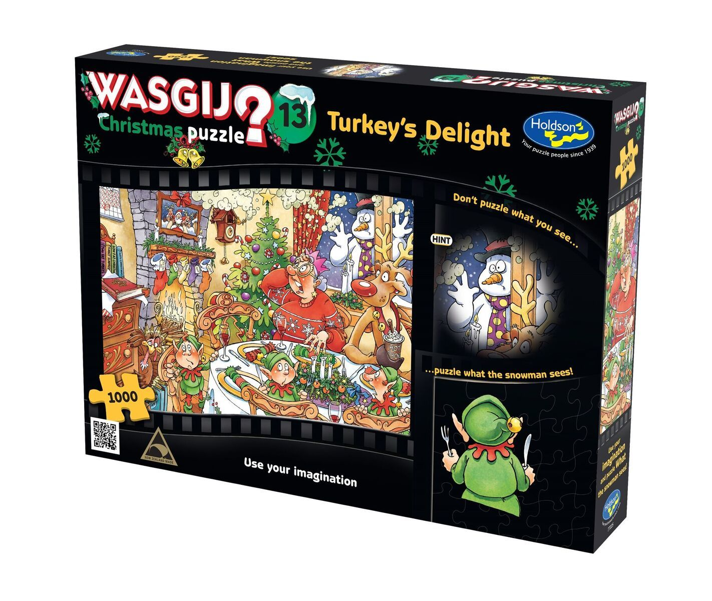 Wasgij: 1000 Piece Puzzle - Christmas (Turkey's Delight!) image