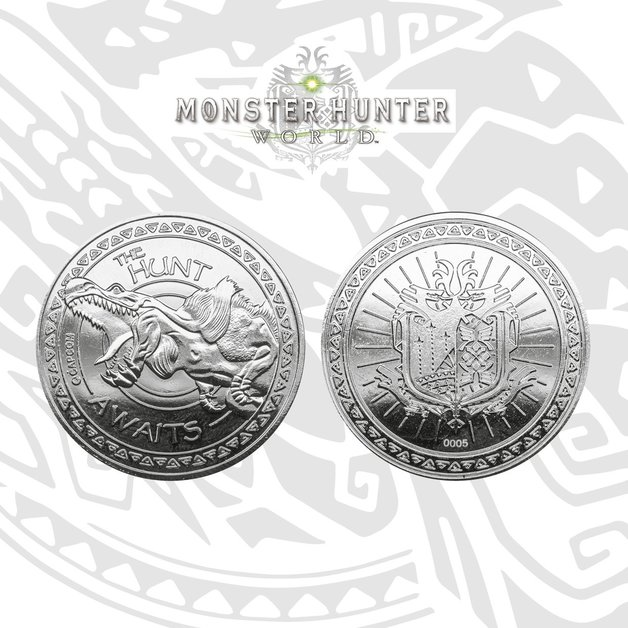 Monster Hunter: Collectible Coin - The Hunt Awaits (Silver Edition)