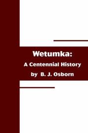 Wetumka: A Centennial History by B. J. Osborn image
