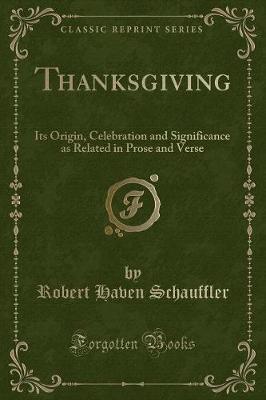 Thanksgiving by Robert Haven Schauffler