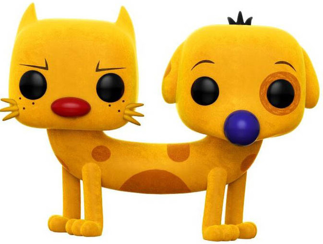 "SDCC EXCLUSIVE FLOCKED CATDOG 3.75/"" POP VINYL FIGURE FUNKO 221 NICKELODEON POP"