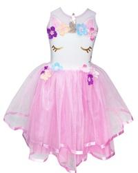 Pink Poppy: Unicorn Dress - Pale Pink (Size 3/4)