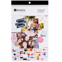 Rosie's Studio: Embellishments - 5pg Sticker Book (Words of Wisdom)