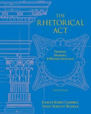 Rhetorical Act by Susan Schultz Huxman image