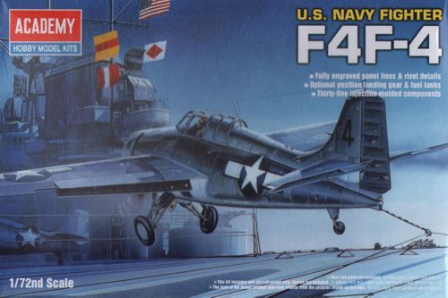 Academy F4F-4 Wildcat 1/72 Model Kit