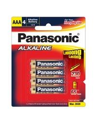 Panasonic Alkaline AAA Batteries - 4 Pack