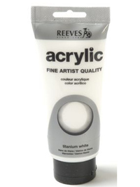 200ml Reeves Fine Acrylic - Titanium White
