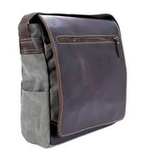 Troop London: Endeavour Leather & Canvas Body Bag