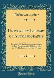 University Library of Autobiography by Unknown Author image