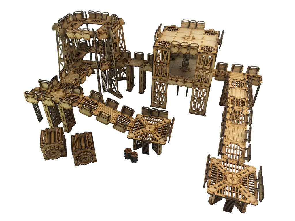 TTCombat: Tabletop Scenics – Sector 1 Industrial Complex image