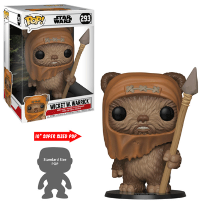 "Star Wars: Wicket - 10"" Super Sized Pop! Vinyl Figure image"