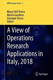 A View of Operations Research Applications in Italy, 2018