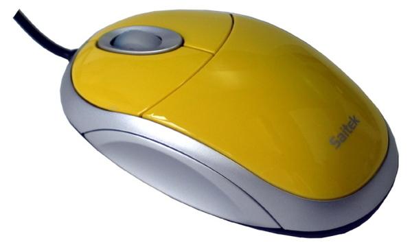 Saitek Desktop Mouse - Yellow