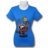 Guardians of the Galaxy: Rocket & Baby Groot Women's Slim T-Shirt (Medium)