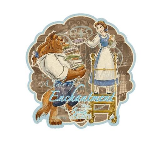 Disney Travel Sticker - Beauty & the Beast image