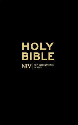 NIV Thinline Black Hardback Bible by New International Version image
