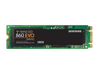 250GB Samsung 860 EVO V-NAND M.2 (2280) SSD SATA III 6GB/s, R/W(Max) 550MB/s/520MB/s