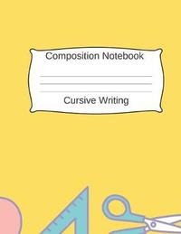 Composition Notebook Cursive Writing by Rmc School Notebooks image