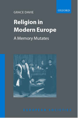Religion in Modern Europe by Grace Davie image