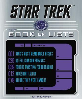 Star Trek: The Book of Lists by Chip Carter image