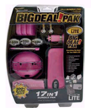 DS Lite 17 in 1 Bundle Pack - Pink for Nintendo DS image