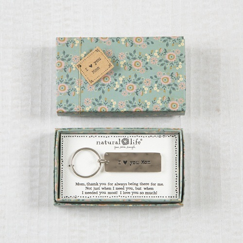 Natural Life: Boxed Keychain - Mom