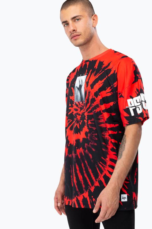 Just Hype: Men's Oversized T-Shirt- Psycho Tie Dye S