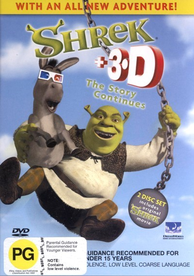 Shrek 3D The Story Continues - Special Edition (2 Disc Set) on DVD