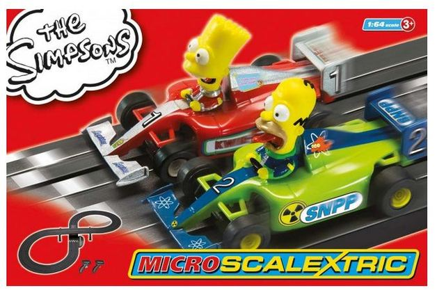 Scalextric The Simpsons Grand Prix 1/64 Slot Cars Set