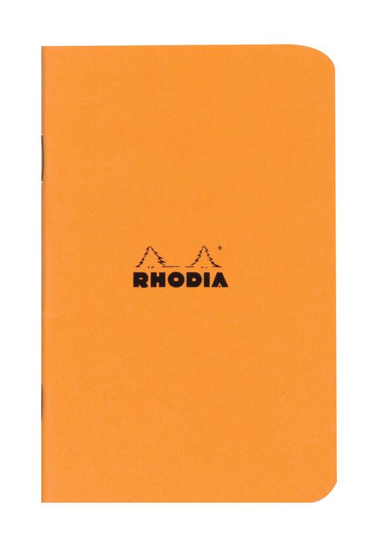 Rhodia Classic Stapled Cahier (Orange)