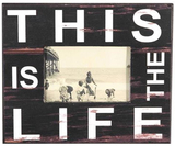 "'This Is The Life"" Black Photo Frame (3.5x5cm)"
