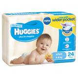 Huggies Ultra Dry Nappies - Infant Boy 4-8kg (24)