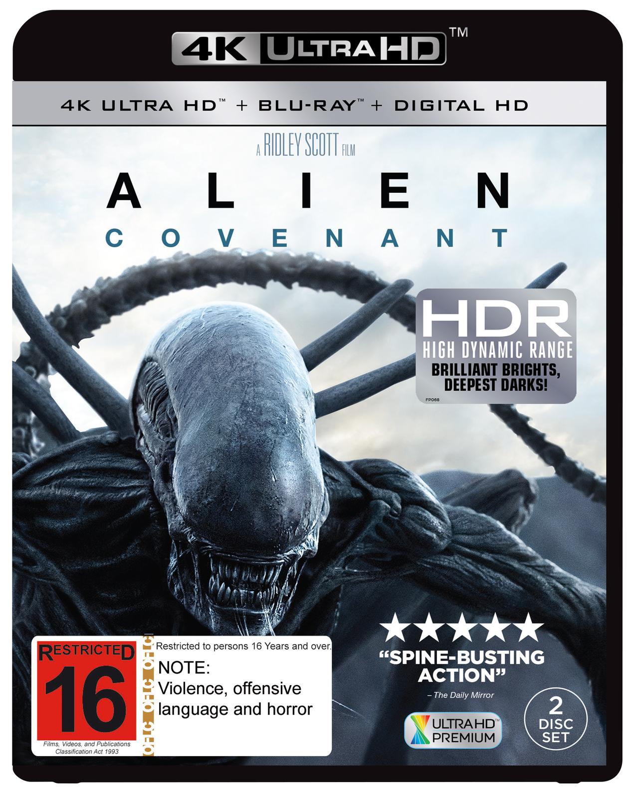 Alien: Covenant on Blu-ray, UHD Blu-ray image