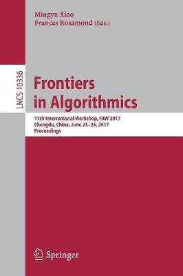 Frontiers in Algorithmics image